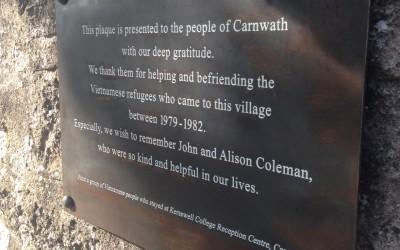 Carnwath GC Vietnam Plaque 2