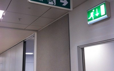 Lend Lease Fire Exit Suspended
